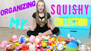 ORGANIZING MY SQUISHY COLLECTION | Bryleigh Anne