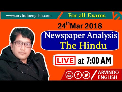The Hindu    Daily News and Analysis ll 24 March 2018