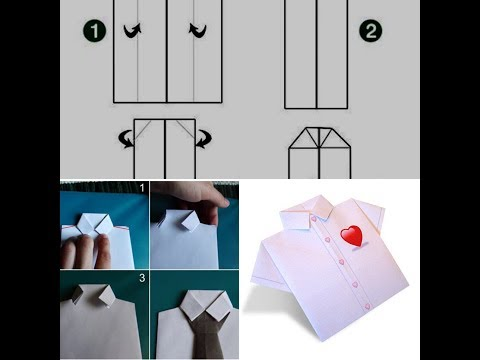 [BEST DIY ART] PAPER CRAFT SHIRT IDEAS FOR DAD|How to Make a Father's Day Shirt Card