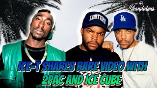 Ice-T Tweets Rare Video with 2Pac & Ice Cube In The Studio Together | 2020