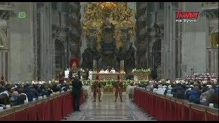 Msza Święta w święto Ofiarowania Pańskiego z Watykanu