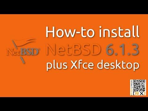 How-to install NetBSD 6.1.3 plus Xfce desktop [HD]