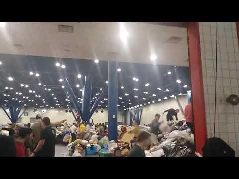 Hurrican Harvey GR Brown stadium Shelter/donation center !