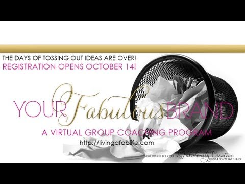 About Your Fabulous Brand: a virtual group coaching program on brand story and brand design