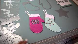 Christmas Project Share: Paper Trey Ink Stitched Holidays Felt Ornaments
