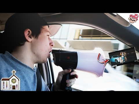 """PLAYING RICEGUMS NEW SONG THROUGH MEGAPHONE! RiceGum - """"God Church"""" Song! ( Official Music Video )"""