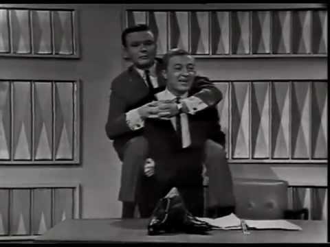 Graham Kennedy Show (1964) Bert Newton & Graham Kennedy piggyback each other