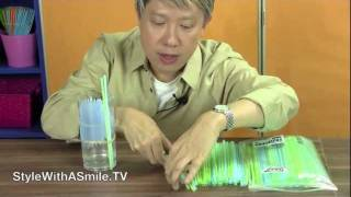 How to Make a Drinking Straw Vase Arrangement: Easy Floral Arranging