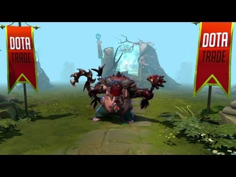 Dota 2 Pudge - Murder of Crows Dendi set custom animation preview