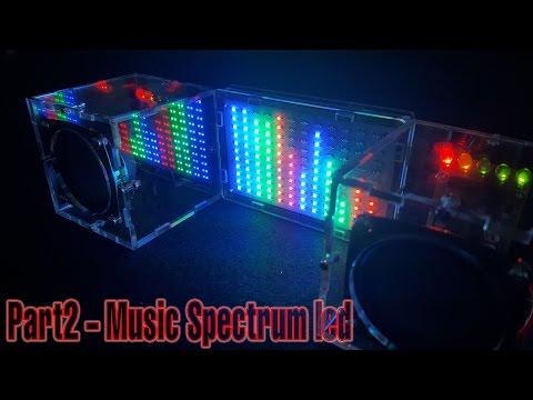 Assembling Music Spectrum Led Flash,  Amplifier Speaker | P2