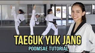 POOMSAE TAEGUK YUK JANG TUTORIAL   Samery Moras Taekwondo