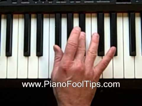 How To Play Piano Lessons Finding The Fm Chord Youtube