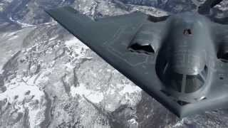 B-2 Spirit Stealth Bombers refuels then rotate fuel receptacle to achieve stealthiness!