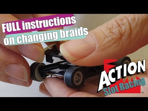 Micro Scalextric – How to change a braid plate