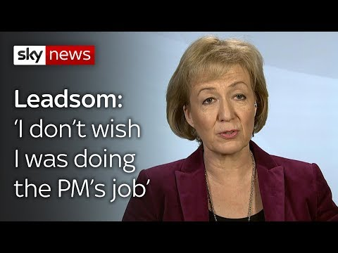 Leadsom: 'I don't wish I was doing PM's job at all'