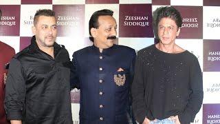 Salman & Shahrukh Khan At Baba Siddiqui's Iftar Party 2016
