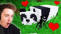 I tamed a PANDA in Minecraft