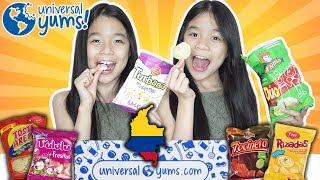UNIVERSAL YUMS - UNBOXING YUM YUM BOX   Tran Twins