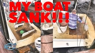 MY BOAT SANK!!! Boating Accident SHOCKING - Storm Sinks Inshore Saltwater Fishing Boat