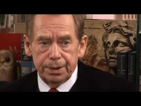 Prezident Václav Havel o návštěvách rezidence USA v Praze