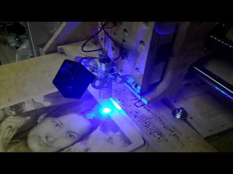 выжигание фото лазером на чпу станке