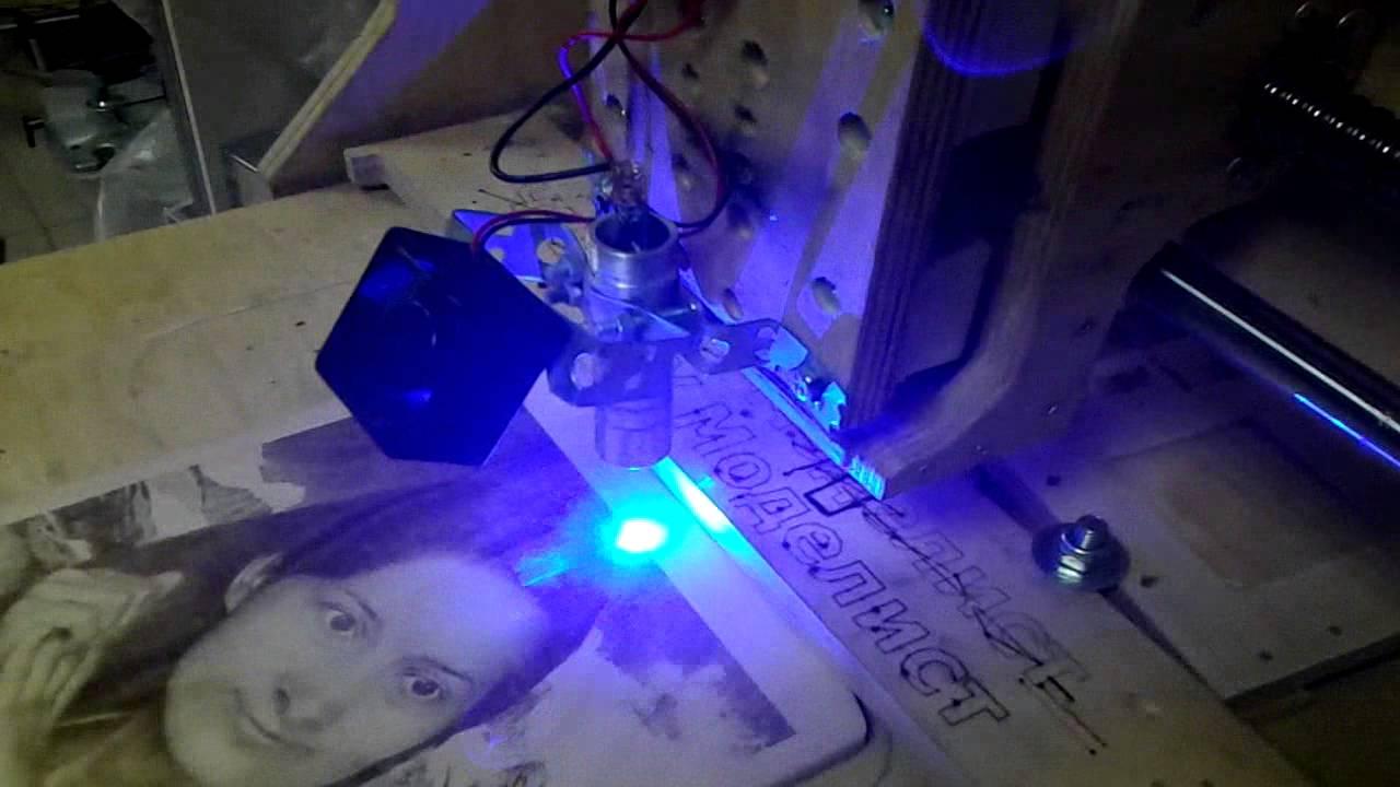 Выжигание фото на дереве лазером на чпу станке - YouTube
