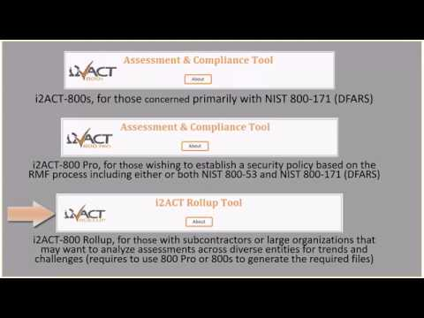 i2ACT-800 Assessment & Compliance Suite Overview (800s, 800 PRO, & Rollup Tools)