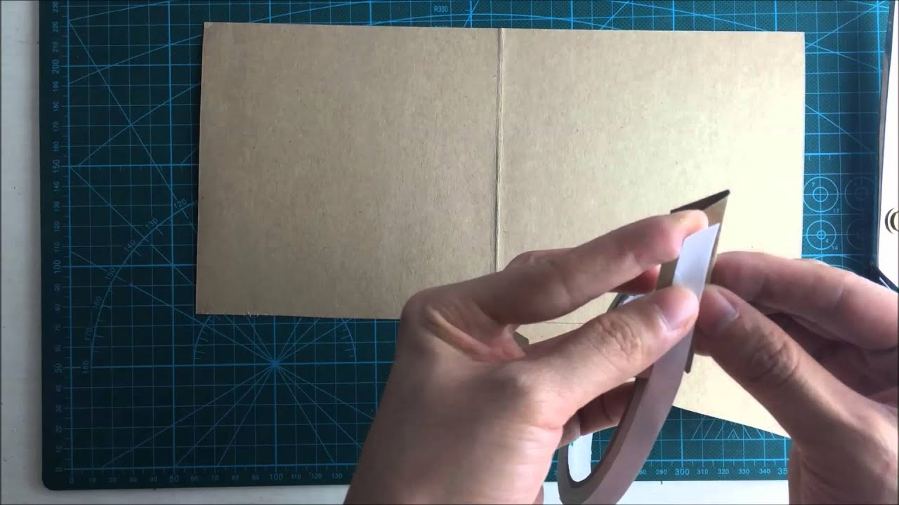 How to make a square pocket invitation by A4 paper Part 1blank