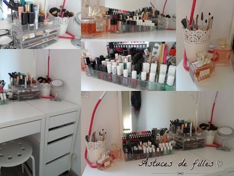 make up room tour mon organisation maquillage youtube. Black Bedroom Furniture Sets. Home Design Ideas