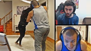 TYLER1 WRESTLES WITH HIS GIRLFRIEND | YASSUO WHEN HE SAW AATROX'S DAMAGE | LOL MOMENTS