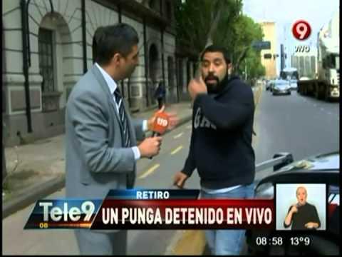 Retiro: Un punga detenido en vivo