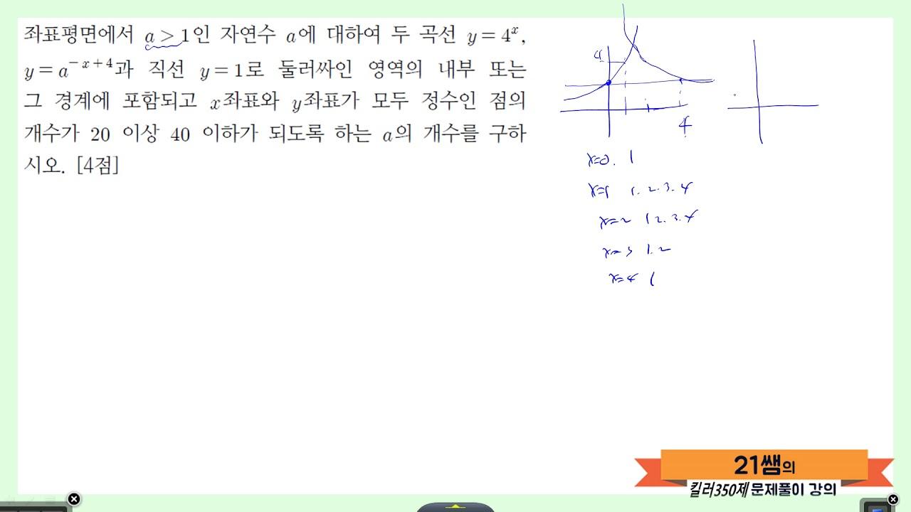 킬러 미적분2 지수함수와 로그함수 6 - YouTube