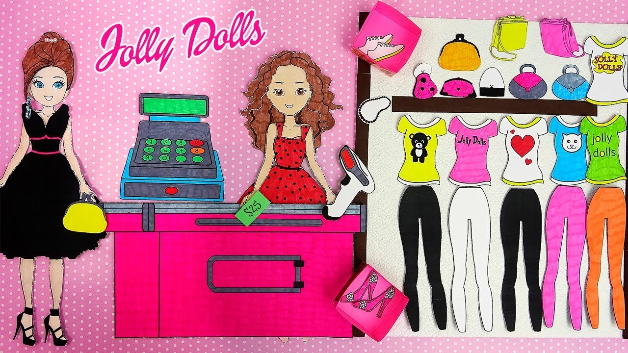 Paper Dolls Shopping New Clothes Amp Diy Accessories Youtube