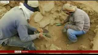 BBC News   Archaeologists unearth ancient royal tomb in Peru