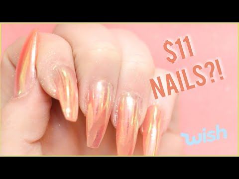 Testing a Poly Gel Nail Kit from WISH