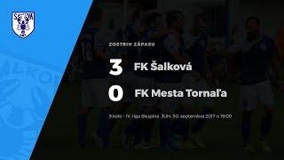 Zostrih zápasu FK Šalková - FK Mesta Tornaľa, 30.9.2017 o 19:00