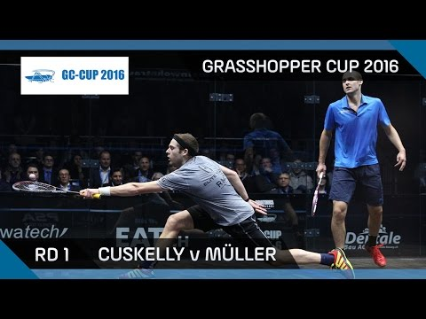 Squash: Cuskelly v Müller - Grasshopper Cup 2016 - Rd 1 Highlights