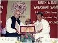 Download Shri Manoj Das' speech while receiving Saraswati Samman for the year 2000 MP3 song and Music Video