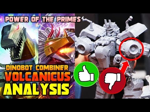 Transformers Dinobots Combine Into Volcanicus TOY ANALYSIS (Power Of The Primes )
