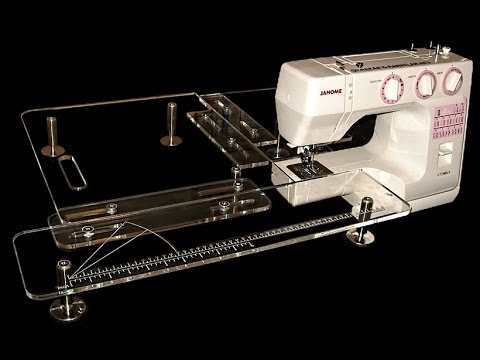 Sewing Quilting Extension Table YouTube Magnificent Adjustable Sewing Machine Extension Table