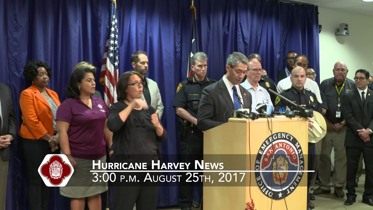 News Conference - Hurricane Harvey 3:00 p.m. August 25th, 2017