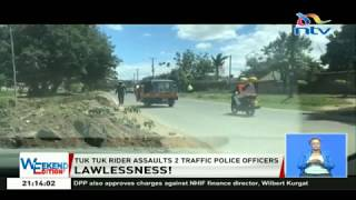 Tuk tuk rider assaults two traffic police officers
