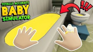 NAUGHTY BABY FILLS BATH WITH TOILET WATER THEN DRINKS & SWIMS IN IT!! || Baby Hands Gameplay Part 8