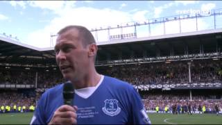 Duncan Ferguson's Emotional On-Pitch Interview