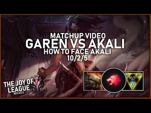 riste - GRANDMASTERS GAREN vs Akali | How to face Akali! 10/2/5! - League of Legends