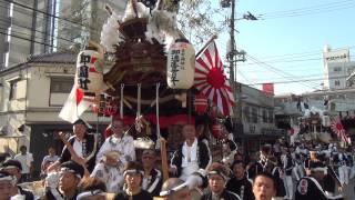 平成27年8月1日 尼崎市 貴布禰神社祭礼 宵宮 パレード だんじり.