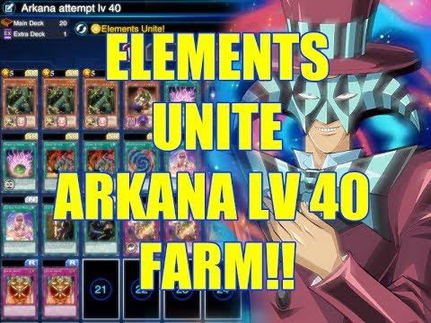 Yu-Gi-Oh Duel Elements Unite Arkana Lv 40 Farming Deck