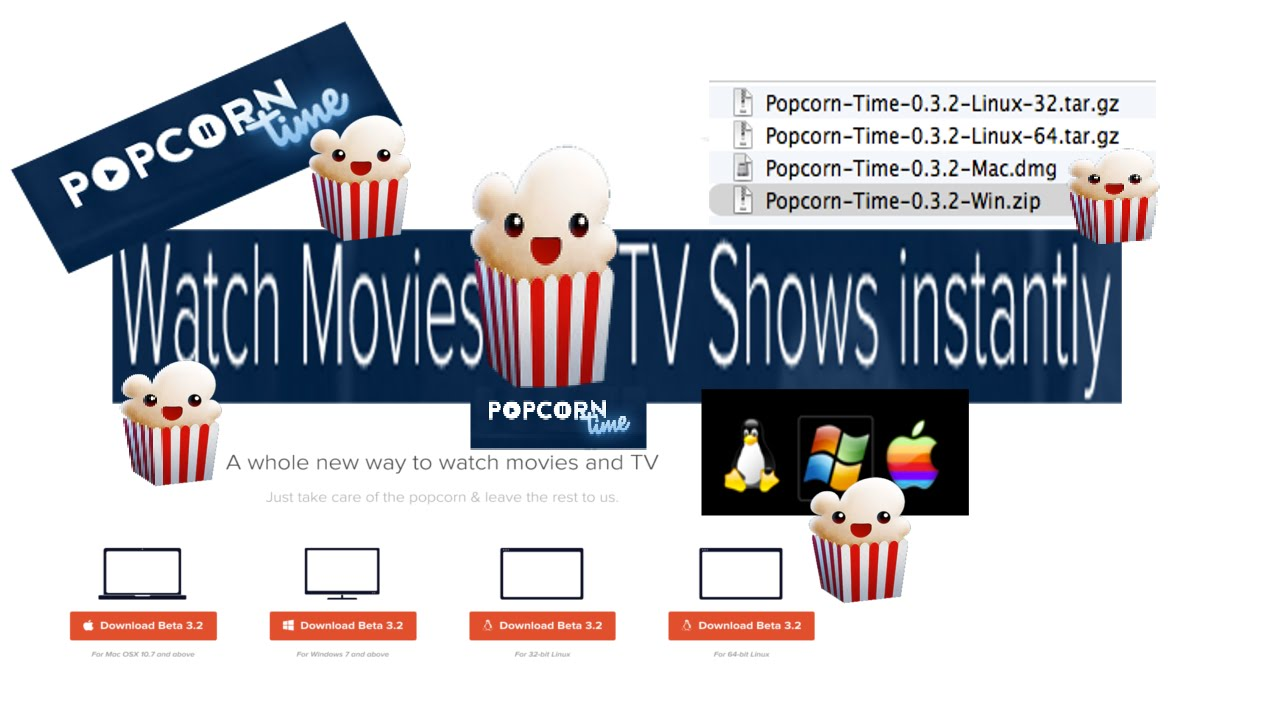 Popcorn Time App Mac Windows Linix Free TV & Movies - YouTube