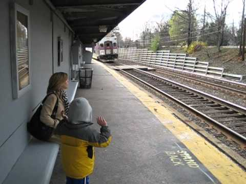 MBTA Commuter Rail Eases into Auburndale Station
