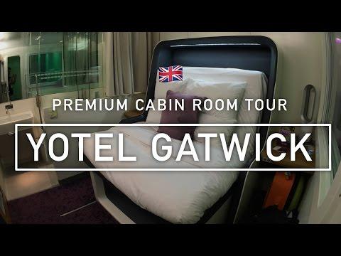 🇬🇧 Yotel Gatwick Airport: Premium Cabin room tour & review